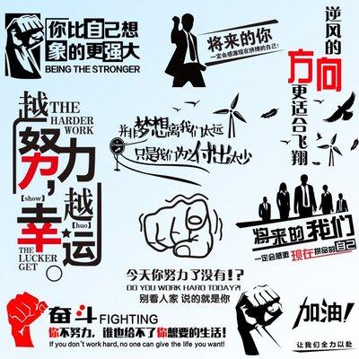 千禧禧居~創意辦公室布置標語墻面裝飾公司勵志團隊文化墻企業背景墻貼紙
