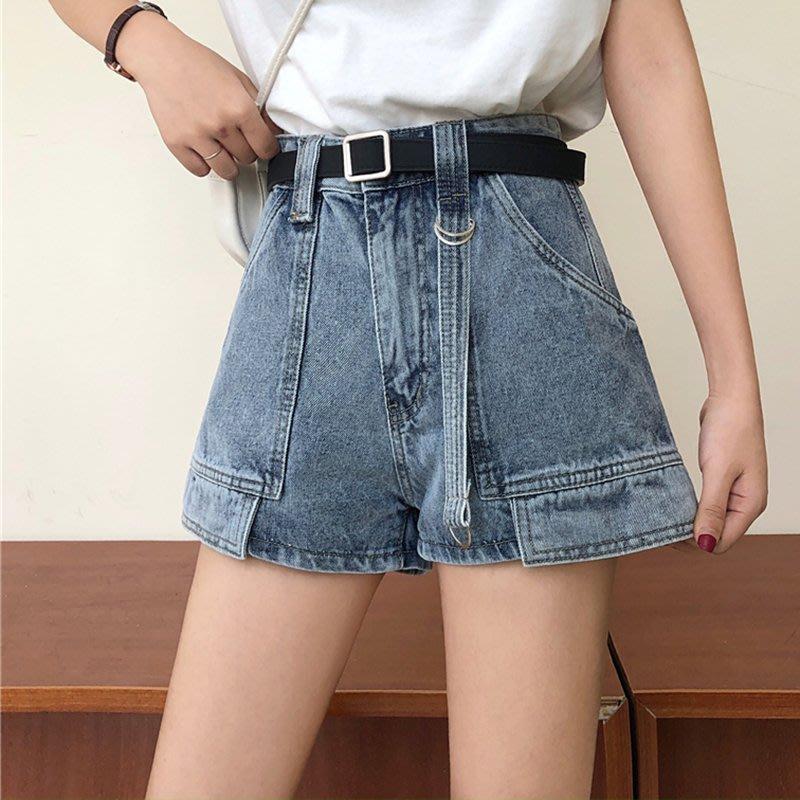 高腰牛仔褲牛仔短褲女潮2020新款夏裝時尚寬松顯瘦網紅a字熱褲子