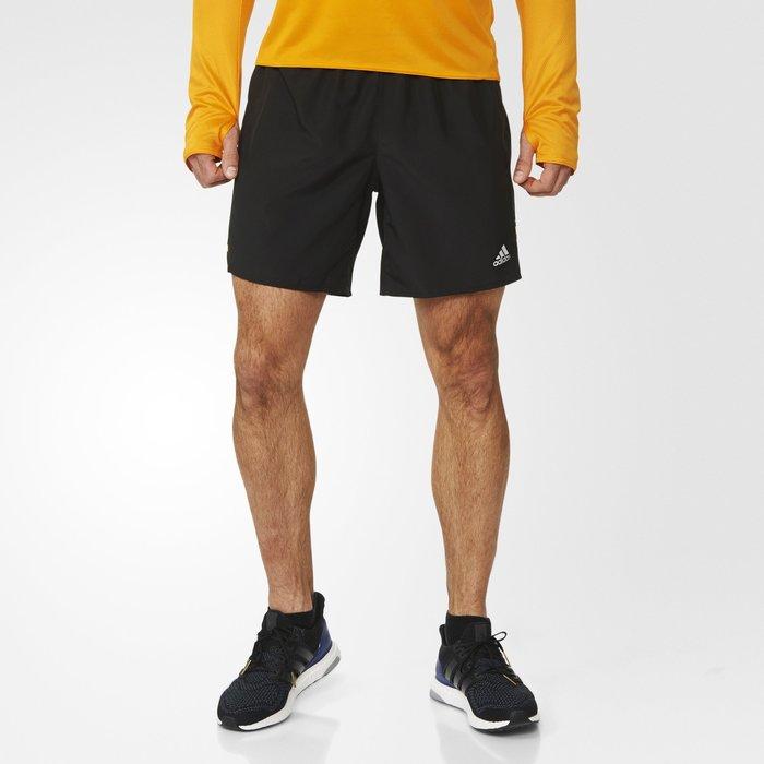 【豬豬老闆】Adidas 愛迪達 排汗慢跑短褲 五分褲  運動短褲 男款  透氣 吸濕排汗 黃 AI9250