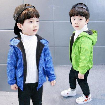 男童外套加絨加厚寶寶沖風衣1-3-4歲5男兒童潮