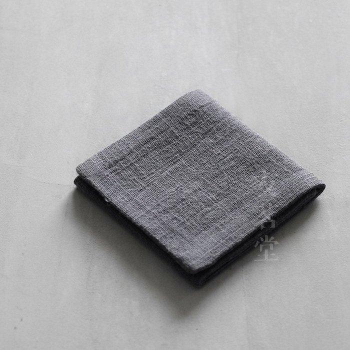 友茗堂無由素布三折潔方棉麻茶巾茶布手工縫制 LP0357  衣品居 YPJ