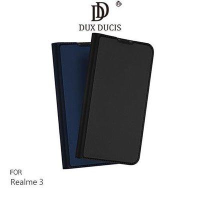 *phone寶*DUX DUCIS Realme 3 奢華簡約側翻皮套 可站立 可插卡 保護套