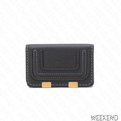 【WEEKEND】 CHLOE Marcie 皮革 皮夾 卡夾 短夾 零錢包 黑色 19秋冬