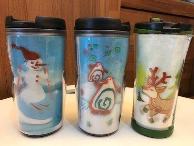 星巴克 Starbucks 台灣 隨行杯 8oz 雪人 企鵝 麋鹿 聖誕限量 3D 共3款 不分售 全新未使用