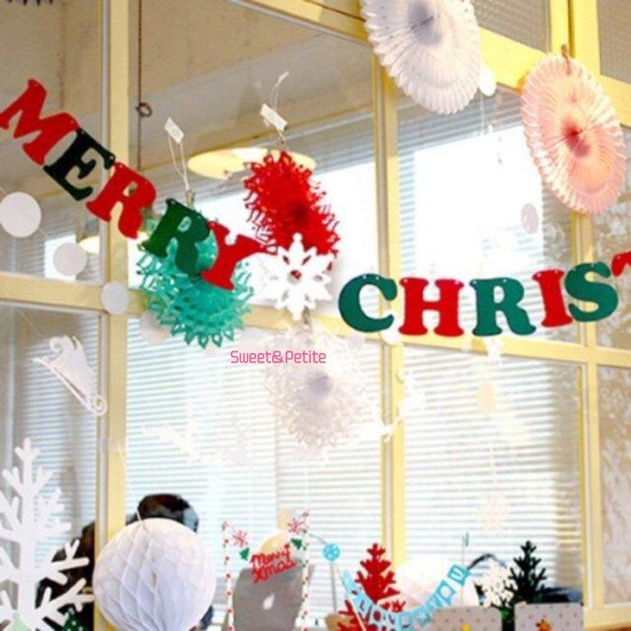 FW50❤大款。聖誕快樂雪花掛旗❤ 聖誕節派對 聖誕掛旗 聖誕樹掛旗 耶誕節 拉花旗幟教室櫥窗布置 跨年聖誕派對