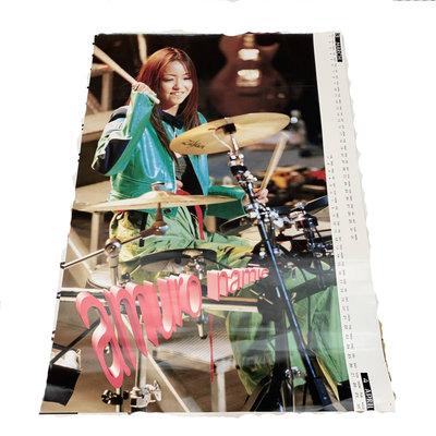 日本帶回~安室奈美惠NAMIE AMURO 早期1997年單張海報 B2尺寸~B款