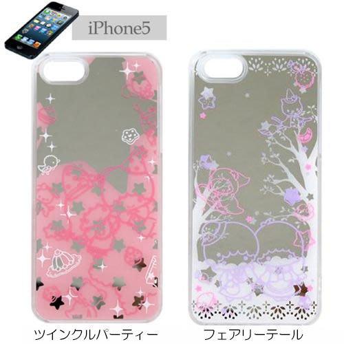 尼德斯Nydus~* 日本正版 雙子星 Kikilala 鏡面 硬殼 手機殼 iphone5 5S 專用 三麗鷗授權 共2款