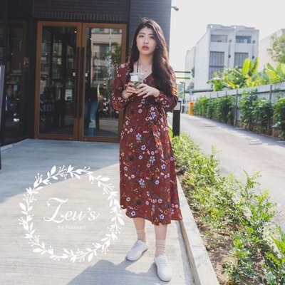 【ZEU'S】休閒典雅浪漫V領綁帶洋裝『 03119903 』【現+預】C 活動專區