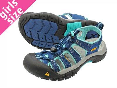 =CodE= KEEN NEWPORT SANDALS 編織彈性綁繩護趾防水包頭涼鞋(深藍水藍)1014199 拖鞋 女