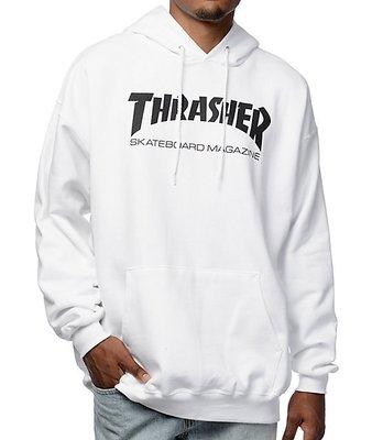 Thrasher 基本 logo 字款 帽T 白色 美國直寄 保證正品 內有 Champion Stussy 台中市