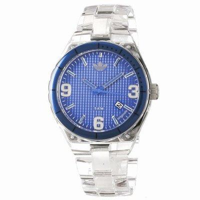 【adidas - ADH 2509】100%全新正品 輕量化 運動型 名錶 手錶 / 藍色【防水50米】57g