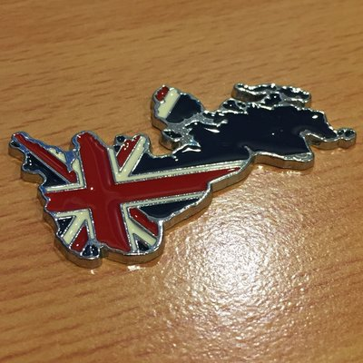 英國地圖 金屬貼 後車標 Mini 車身貼紙 車標 13精品