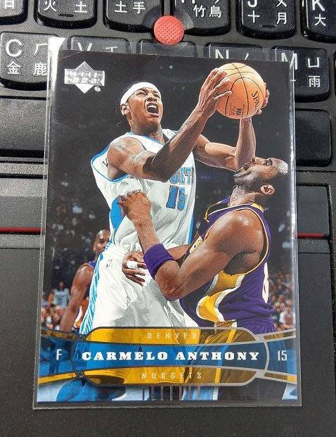 2004-05 Upper Deck Carmelo Anthony vs Kobe Bryant 穿8號球衣 值得收藏