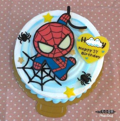*CC手工蛋糕* - 蜘蛛人 6吋 造型蛋糕  圖案可更改(另)報價
