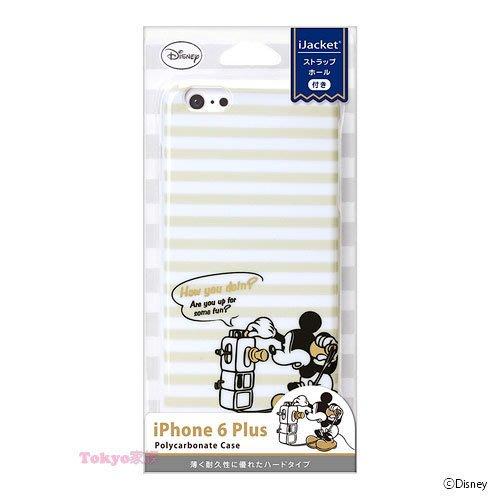 東京家族 特價 正版  迪士尼 米奇白色 i phone6 plus 金鉑色手機殼