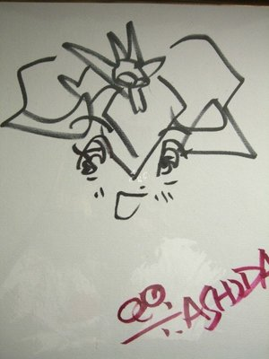 童年回憶 魔神英雄傳 已故作者 盧田豐雄 親筆手繪簽名板