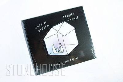 亞莉安娜Ariana Grande 小賈斯汀Justin Bieber / Stuck With U 限量單曲 全新