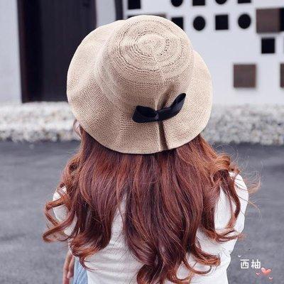 漁夫帽 帽子夏天漁夫帽女韓國休閒潮百搭防曬遮陽帽出游大沿沙灘帽太陽帽