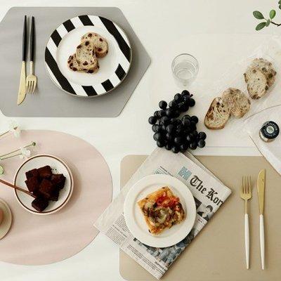 Ξ ATTIC Ξ 韓國fenice~ Two Tone Table Mat 溫暖陽光 雙色防水皮革桌墊/餐墊