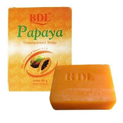 印尼 BDL PAPAYA 頂級木瓜水晶洗面皂 90g 香皂 另有medimix 美肌皂【V366168】 PQ 美妝