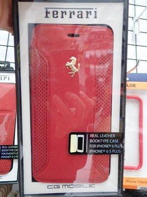 貳 法拉利 Apple Iphone 6 i6 6S plus 真皮保護殼 背蓋 大6 法拉F12皮 紅色
