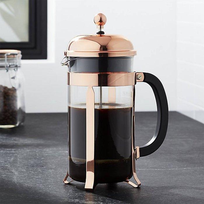 丹麥 Bodum 金銅色-金頭-11652-18 1L 8cup CHAMBORD Coffee Maker 法式濾壓壺