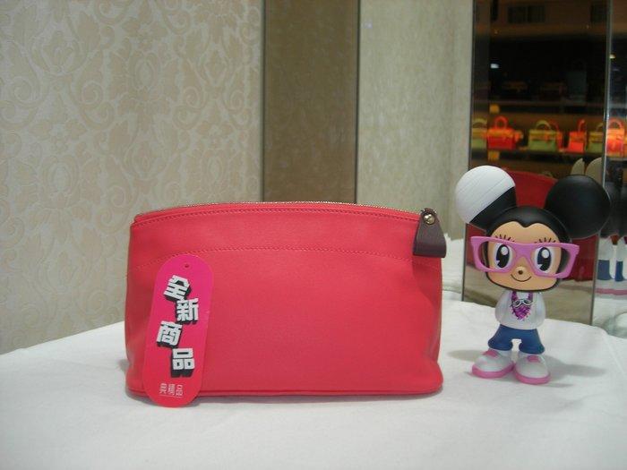 典精品 Hermes  全新 真品 T5 Rose Jaipur 玫瑰粉  拉鍊 化妝包 收納包 內袋~ 現貨