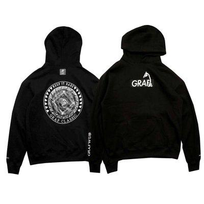 Cover Taiwan 官方直營 GRAF Box Logo 刺繡 嘻哈 帽Tee 帽T 衛衣 長袖 黑色 (預購)