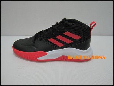 【喬治城】ADIDAS OWNTHEGAME K Wide 兒童籃球鞋(黑紅) EF0309 苗栗縣
