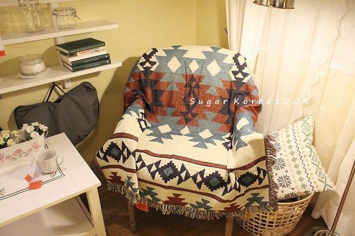 130*160土耳其基里姆 蘇克雷 民族風多用途露營野營桌巾流蘇蓋毯地毯沙發巾編織毯 現貨Sugar Korea100%
