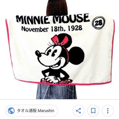 萌貓小店 日本直送-Disney Minnie mouse毛毯ミニーマウス ひざ掛け オールド