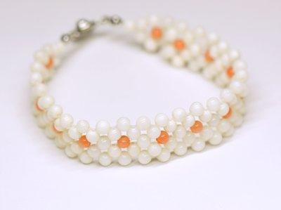 能量寶石 輕珠寶 天然粉珊瑚 白珊瑚 編織手鍊 附保證書 台灣特色文創商品【大千珠寶】
