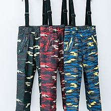【荳荳物語】美國品牌TURBINE鋪棉保暖吊帶男童滑雪褲#15301(迷彩款),防水係數10k,(S~XL)2380元