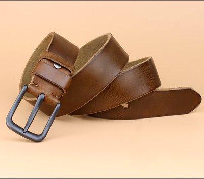 『老兵牛仔』TG8022個性時尚韓版水洗皮帶/頭層牛皮/復古/彈力/耐拉/個性