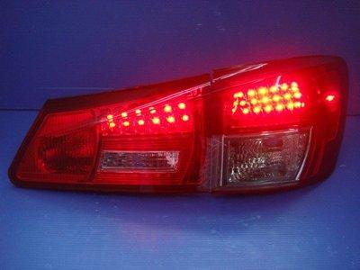 小亞車燈╠ 全新外銷款 凌志 LEXUS IS250 超亮 紅黑 LED 尾燈