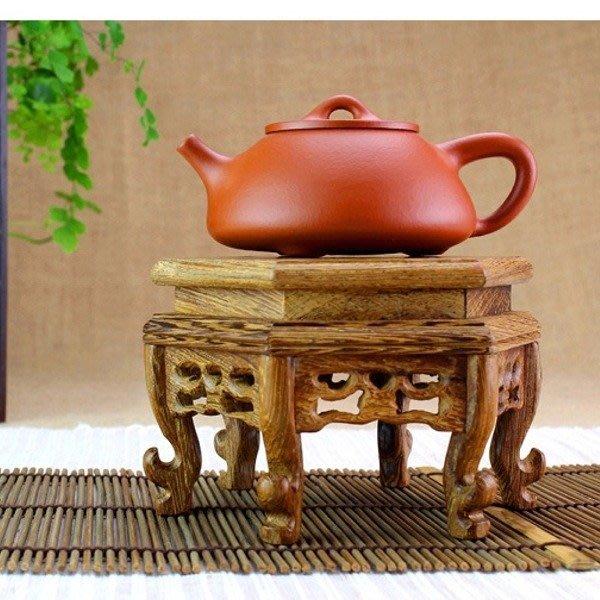 5Cgo【茗道】含稅會員有優惠 38350780360 雞翅木實木壺座底座茶壺架壺托壺墊杯墊杯托杯架茶道茶具架 高款