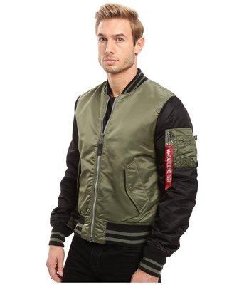 ALPHA INDUSTRIES MA-1 飛行夾克 VARSITY  雙色棒球外套領