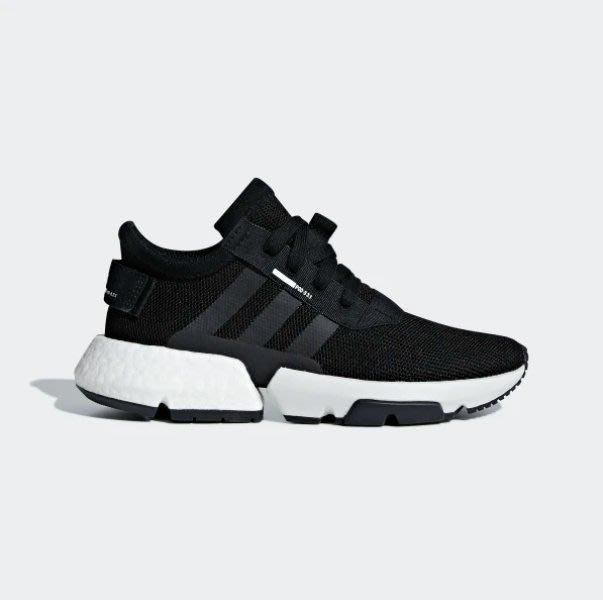 沃皮斯§Adidas POD-S3.1 黑白 慢跑鞋 女鞋 B42058