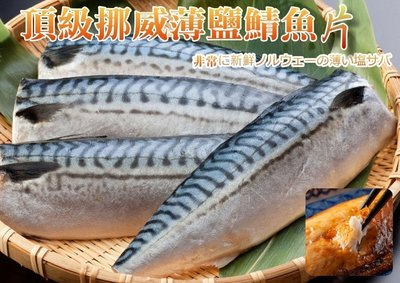 【挪威 薄鹽鯖魚 鯖魚片 3L號 220g】珍貴豐富魚油 肉質鮮美 真空包裝 煎 烤 都美味『即鮮配』