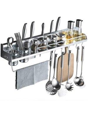 免打孔廚房置物架壁掛式收納架儲物架調料掛架子廚具用品用具刀架