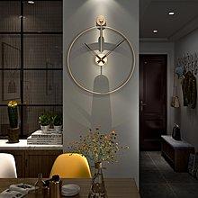 鐘錶客廳現代簡約鐘表西班牙風格家用鐘飾北歐創意個性藝術輕奢掛鐘