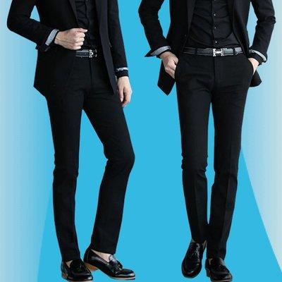 男士西褲修身春夏正韓商務休閒西裝褲職業正裝西服褲子青年黑色