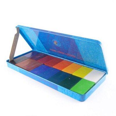 德國知名美術品牌-Stockmar 天然蜂蜜蠟磚/蠟筆 16色