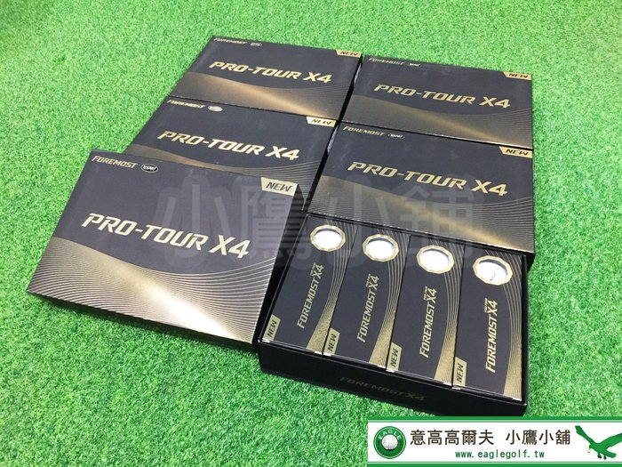 [小鷹小鋪] FOREMOST PRO-TOUR X4 2020 高爾夫球 四層 柔軟觸球感並提高COR 更佳觸感操控性