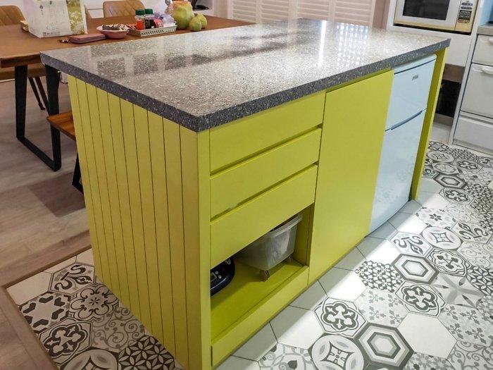 繽紛黃色 中島吧台 收納櫃 置物櫃 皆可訂製【帷圓定制】