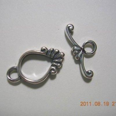 琥珀貓~【925純銀材料配件】OT扣~N7190~造型O圈~一組