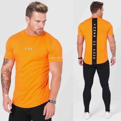 本土生產 肌肉健身兄弟夏季新款棉運動休閒T恤跑步鍛煉圓領短袖