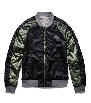 Chevignon Togs Collection Reversible Souvenir Jacket 男 雙面外套 綠色 /灰色 ma1