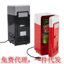 【強強二手商品】USB製冷/加熱兩用型小冰箱    黑色