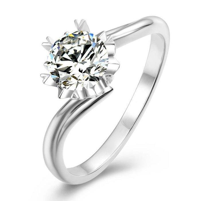莫桑珠寶2克拉摩星鑽八心八箭莫桑石鑽戒925銀高鍍厚白金雪花檯子求婚訂婚結婚鉑金質感附證書保證過測鑽器免運購物愉快有保障